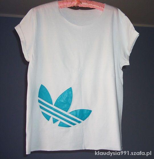 Bluzki Neonowy Adidas Znak Biała Nowa Tunika 36 38