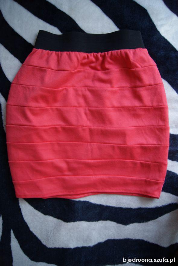 Spódnice koralowa spódniczka bandażowa XS S neon