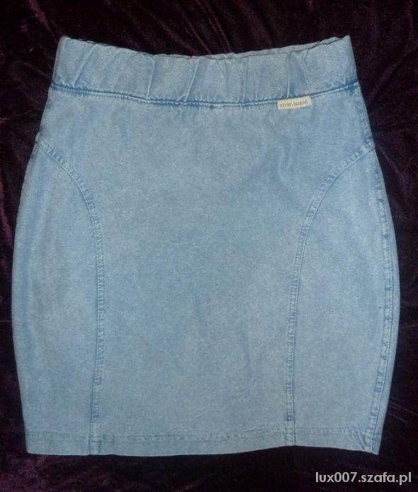 Spódnice River Island spódniczka marmurkowa bandażowa jeans