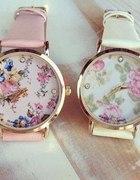 cudowny zegarek floral pastelowy