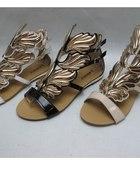 Zanotti sandałki złote