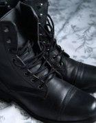 skórzane worker boots wiosna 38