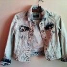 Zara marmurkowa krótka jeansowa kurtka