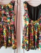 sukienka zara kwiaty