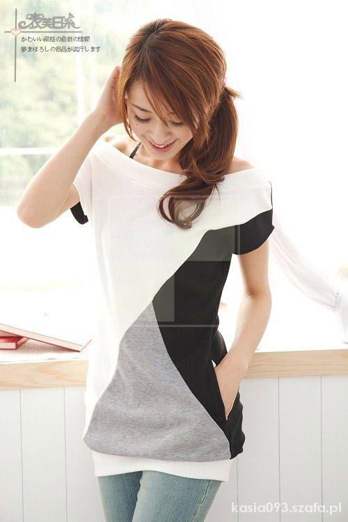 Ubrania Ciekawa Długa Bluzka Japan Style