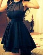 poszukiwana sukienka z siateczka na impreze wesele