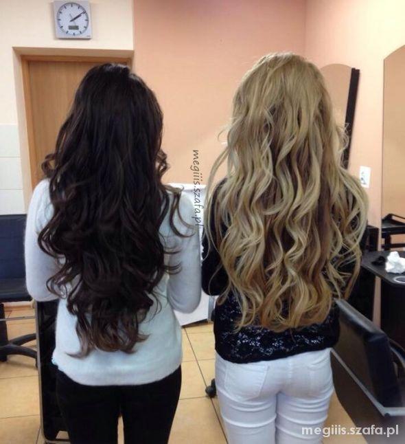 DŁUGIE WŁOSY brąz i blond