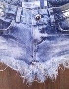 szorty Bershka nowe szarpane jeansowe
