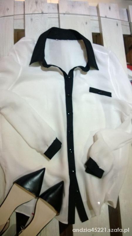 Koszula mgiełka biało czarna...