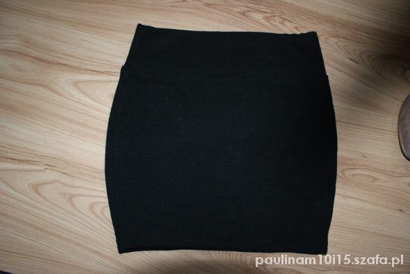 Spódnice Czarna mini paskowana 36 S