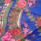 Piękna chust granatowa floral jedyna taka
