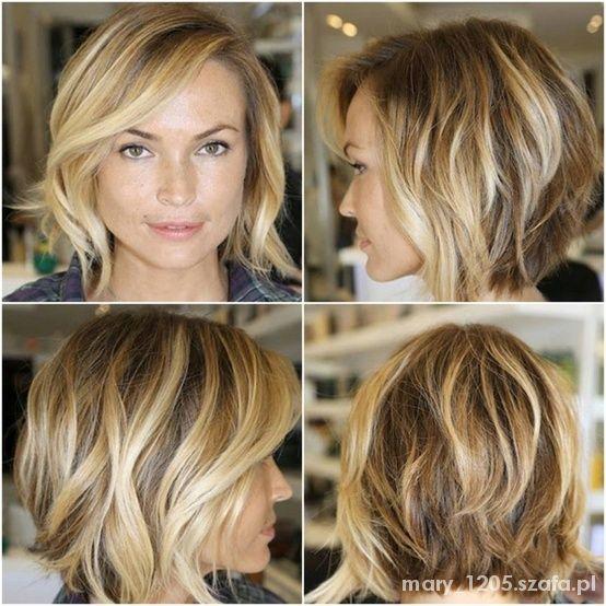 Pomysł Na Ombre Przy Krótkich Włosach I Fruzurki W Fryzury