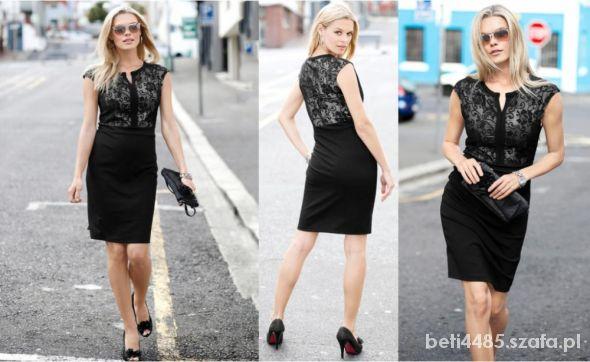 Czarna sukienka z koronką z Bon Prix rozm 36 38...