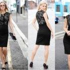 Czarna sukienka z koronką z Bon Prix rozm 36 38
