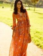 maxi sukienka HM orange