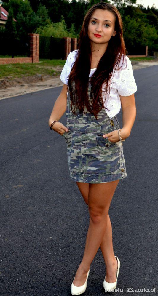 Mój styl Sukienka ogrodniczka
