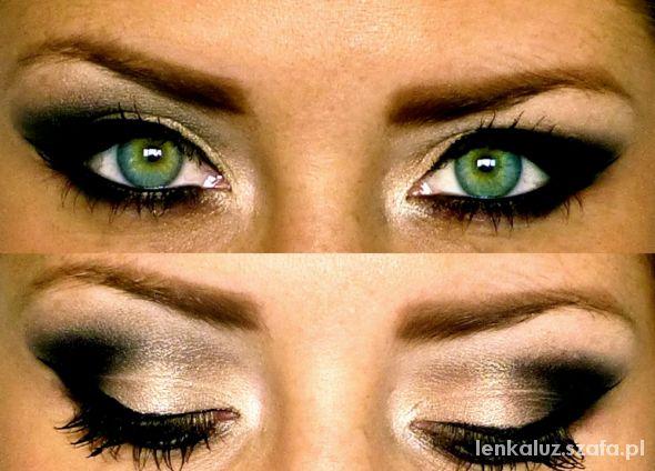 Fryzury Smoky eyes makijaż inspiracje