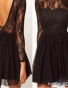 NOWA sukienka koronkowa czarna 36 38 S M
