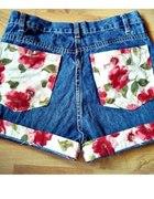 szorty diy wysoki stan kwiaty jeans blogerskie