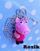 naszyjnik z modeliny śłodka świnka peppa modelina