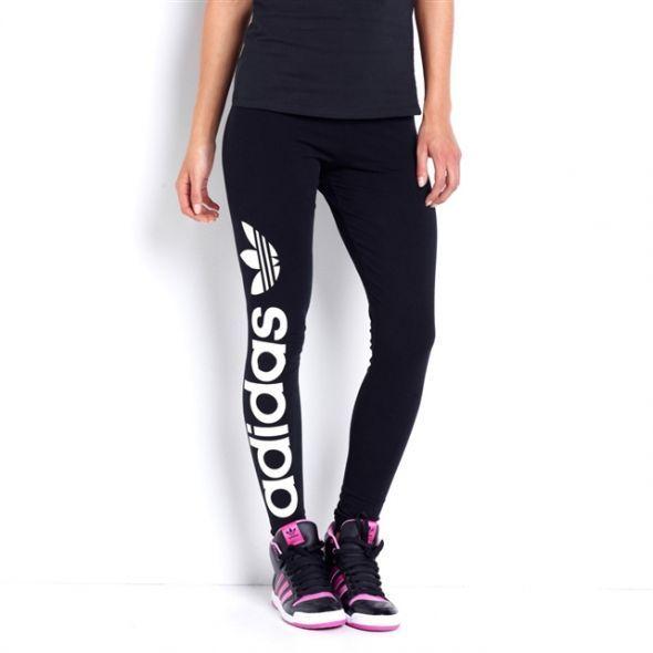 Legginsy Adidas Logo XS S czarne