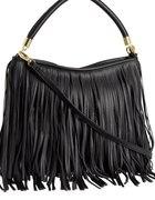 Czarna torebka H&m z frędzlami