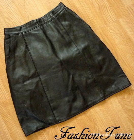Spódnice Spódnica mini vintage z prawdziwej skóry