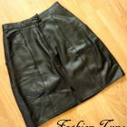 Spódnica mini vintage z prawdziwej skóry