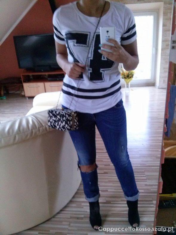 Mój styl Jeans i biel