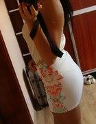 spódniczka mini kwiaty xs s