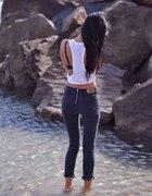 spodnie zip suwak zamek
