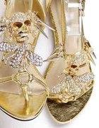 Sandałki z czaszką