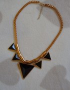 Złoto czarny naszyjnik aztec