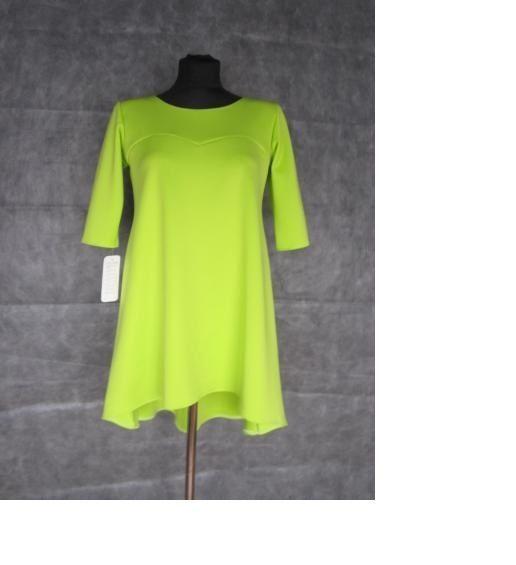 Marina Moda limonkowa sukienka tunika