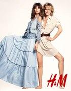 spódnica maxi jeansowa H&M Reporter