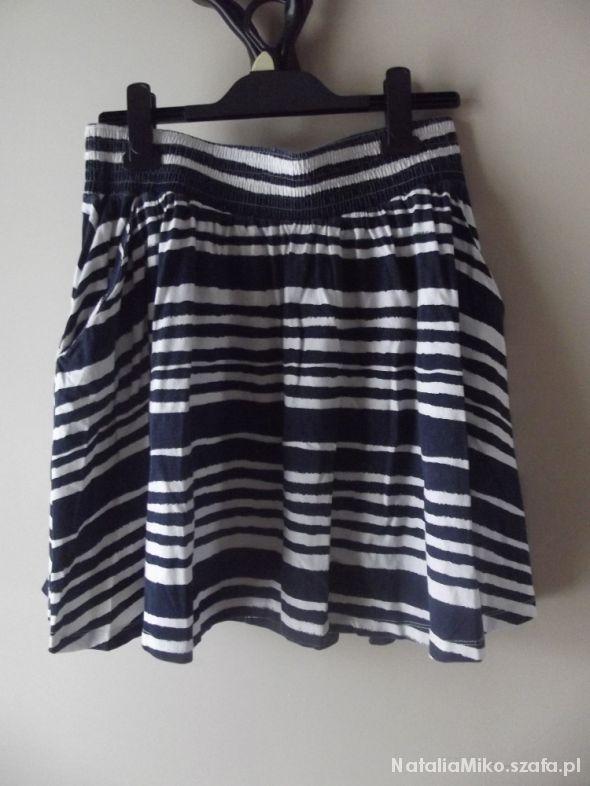 Spódnice Spódnica paski hm na gumce zwiewna kieszenie M