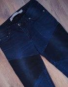 Spodnie z zippem czarno granatowe