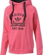 różowa bluza adodas college hoodie...