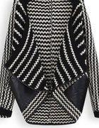 sweter ze skórzanymi kieszeniami