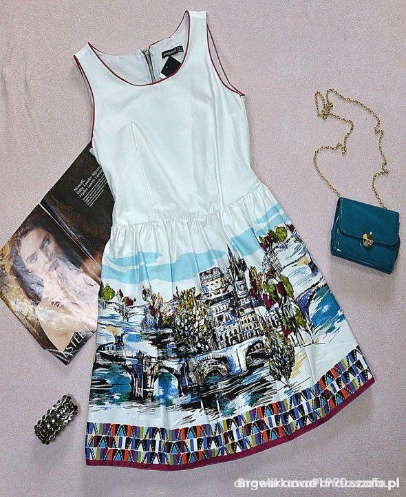 sukienka z nadrukiem...