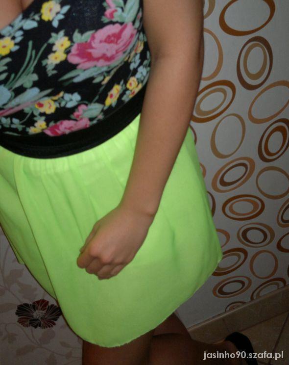 Spódnice neonowa spódniczka