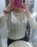 ażurkowy sweterek ażurkowe szpilki