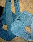 tregginsy jasne jeansowe XS