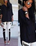 Czarna koszula oversize blogerska