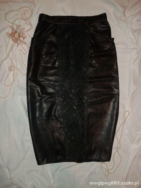 Spódnice skórzana spódnica L