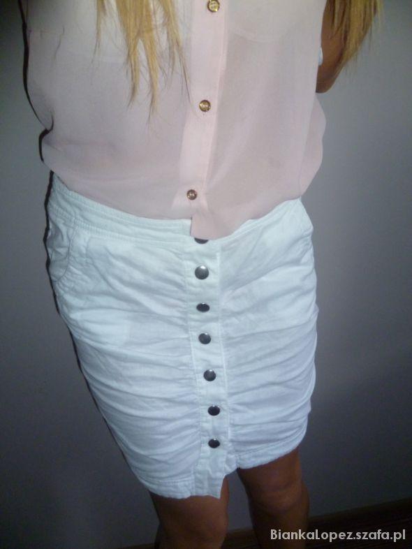 Spódnice H&M rozm m sliczna modna biala