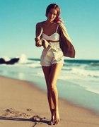 na plaże...