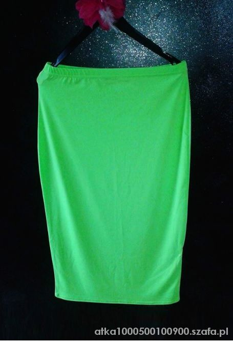 Spódnice BooHoo NEONOWA spódnica midi LIMONKA zielona