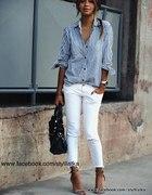 Zestaw białe spodnie
