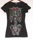 Koszulka szkielet kwiaty...